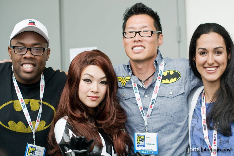 @BlackNerd, @VampyBitMe, @Crazy4ComicCon & myself after the panel. Photo courtesy of Joits Photography