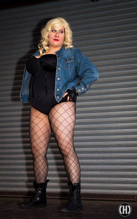 Amanda dressed as one of her favorite characters, Black Canary