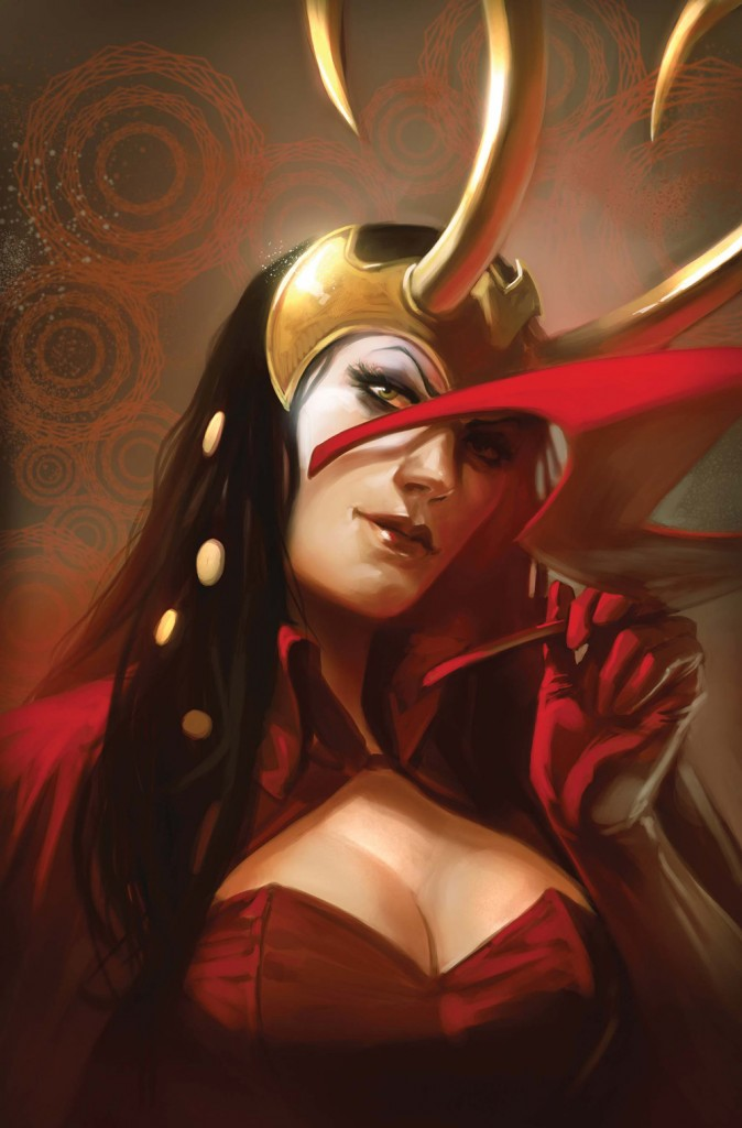 Loki as the Scarlet Witch in Mighty Avengers
