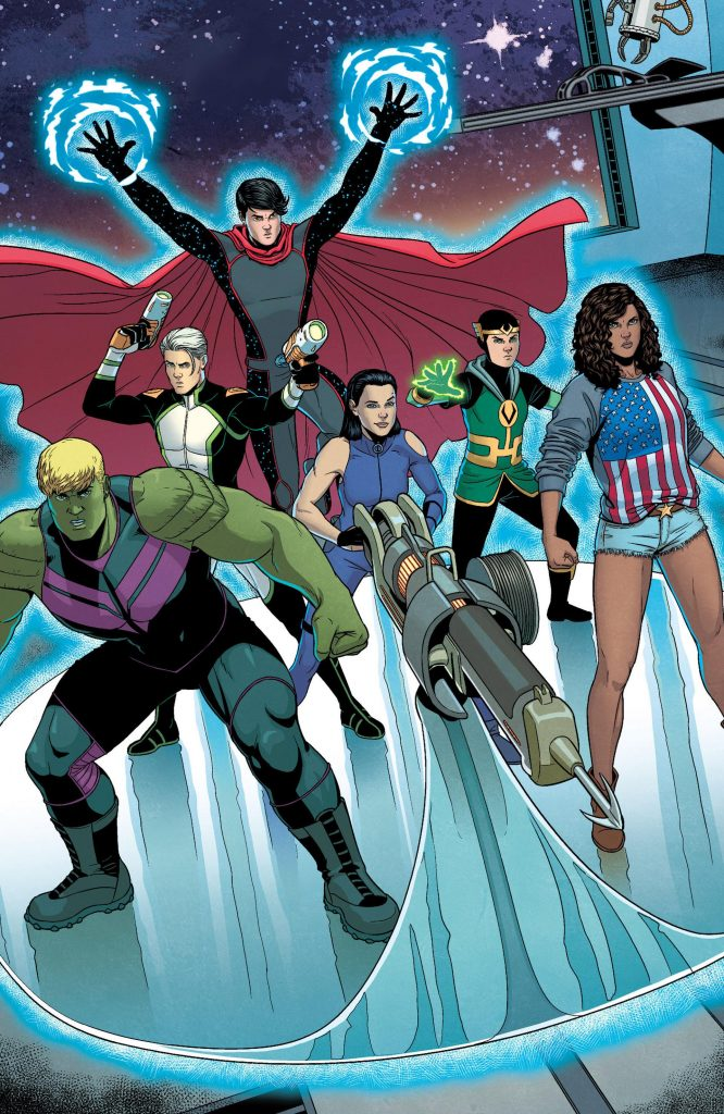 Kid Loki on the Young Avengers team